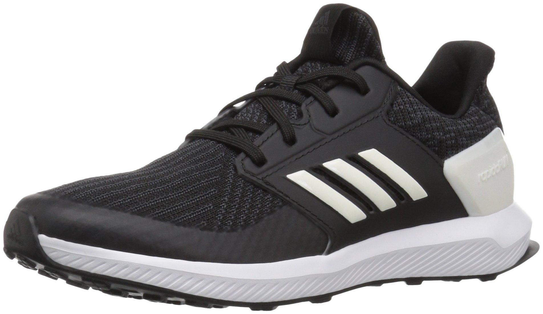 adidas Originals Unisex-Kids Rapidarun Running Shoe, Black/Cloud White/Carbon, 4 M US Big Kid