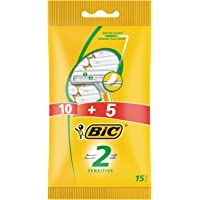 BiC Razor 2 Blade Sensitive Pouch for Men - Pack of 15