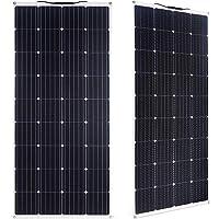SARONIC Panel Solar ETFE Monocristalino PV Flexible de 150W para RV, Barco, Tienda, Coche, Remolque, Batería de 12V o…