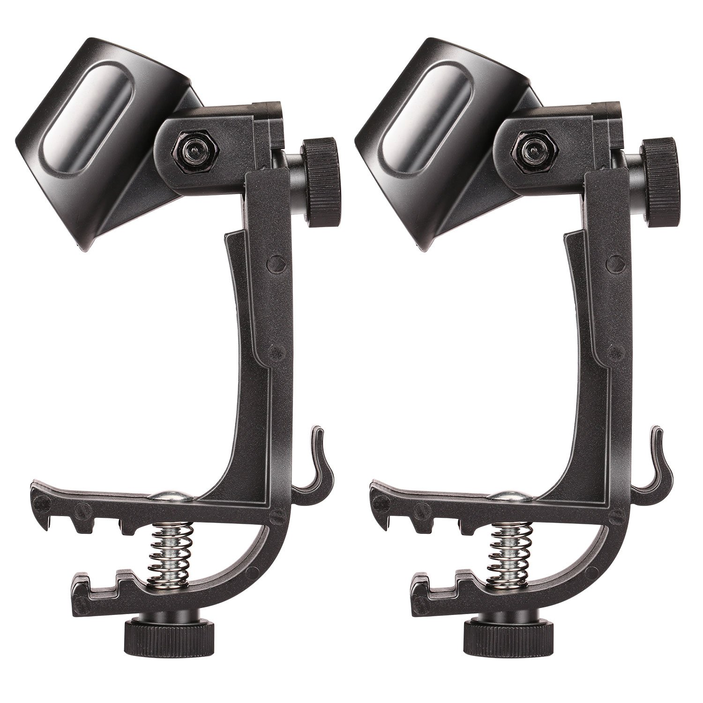 2pcs Microphone Holder Drum Hoop Rim Mount Shock Mount Mic Holder Clip