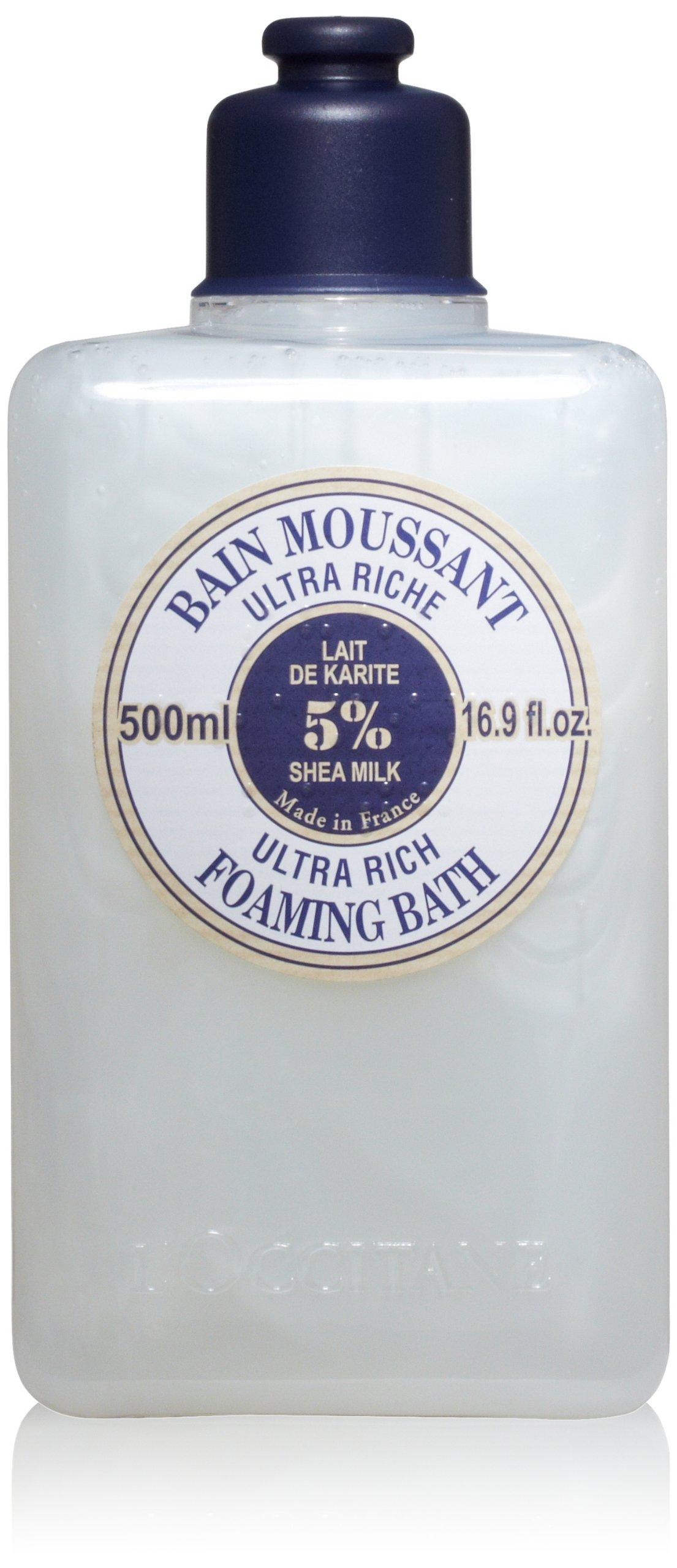 L'Occitane Ultra-Rich Foaming Bubble Bath with 5% Shea Milk, 16.9 fl. oz.