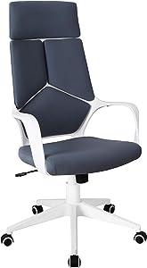 Techni Mobili Executive Modern Studio Office Chair, Regular, Grey