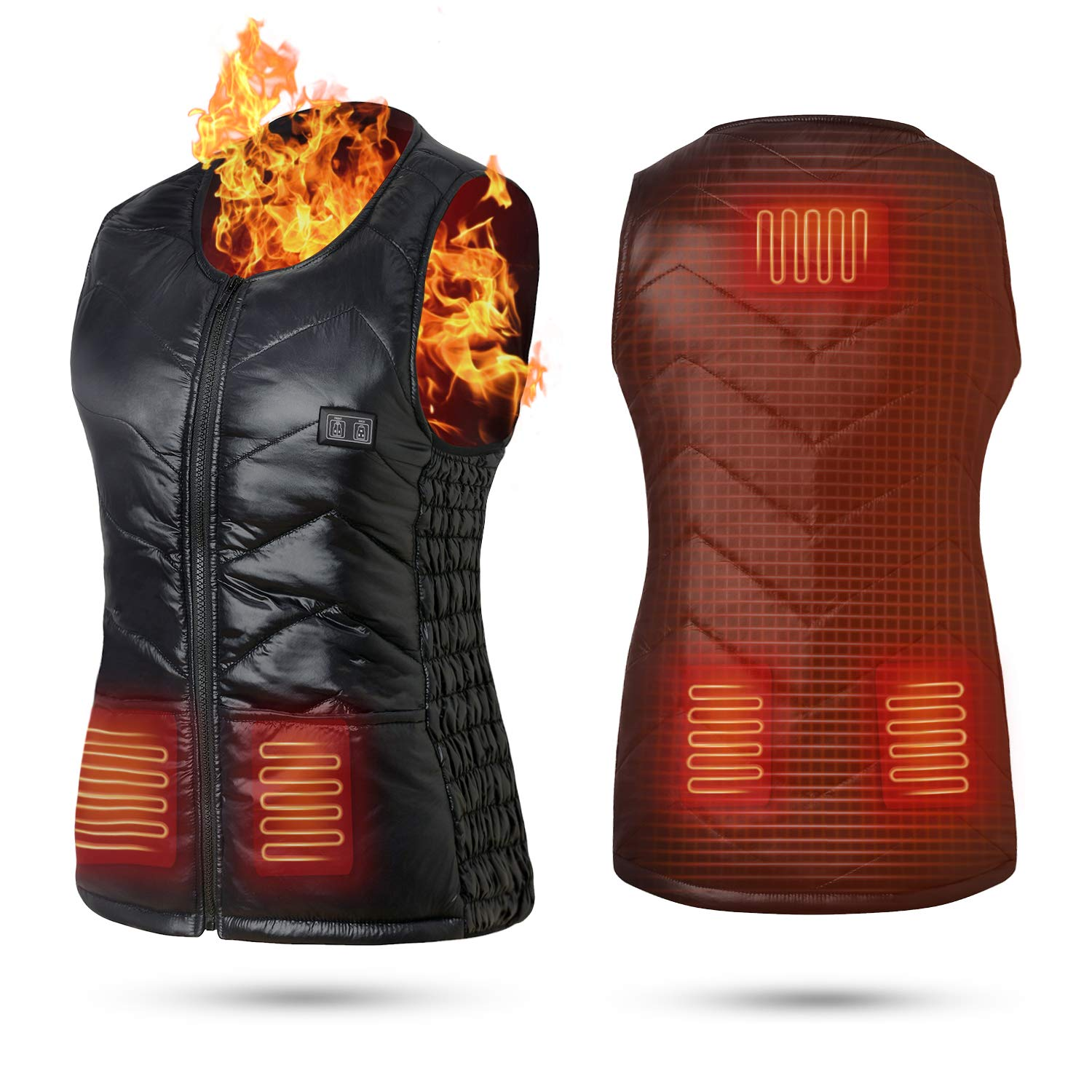 Keymao Heated Vest Electric Vest USB Charging Heated Vest for Men Women Washable Heating Vest Intelligent Clothes Warm Winter