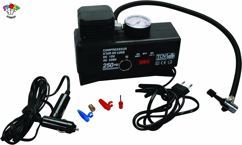 Compresor mini para 12 V o 220 V, bomba para balón: Amazon.es ...