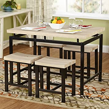 Amazon.com - Target Marketing Systems Delano 5 Piece Dining Table ...
