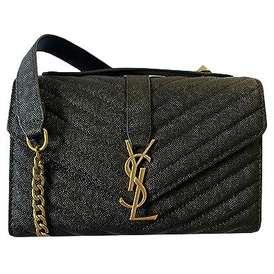 0f08570cf94 YSL Style Purse Women's V-Flap Envelope Chain Shoulder Bag Quilted Genuine  Leather CrossbodyHandbag Hobo