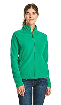 Merona Women's Fleece Jacket Top Sweatshirt Coat (Large, Green) at ...