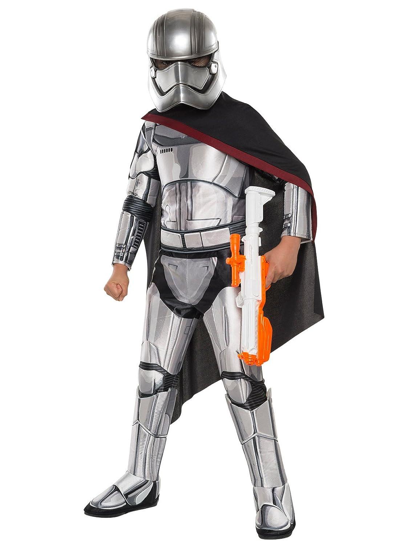 Generique - Captain Phasma-Lizenzkostüm für Kinder Star Wars grau-schwarz 128 (7-8 Jahre)