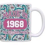 50th Birthday Gift Made 1968 Paisley Birthday Mug Decorations Gift Coffee Mug Tea Cup Paisley