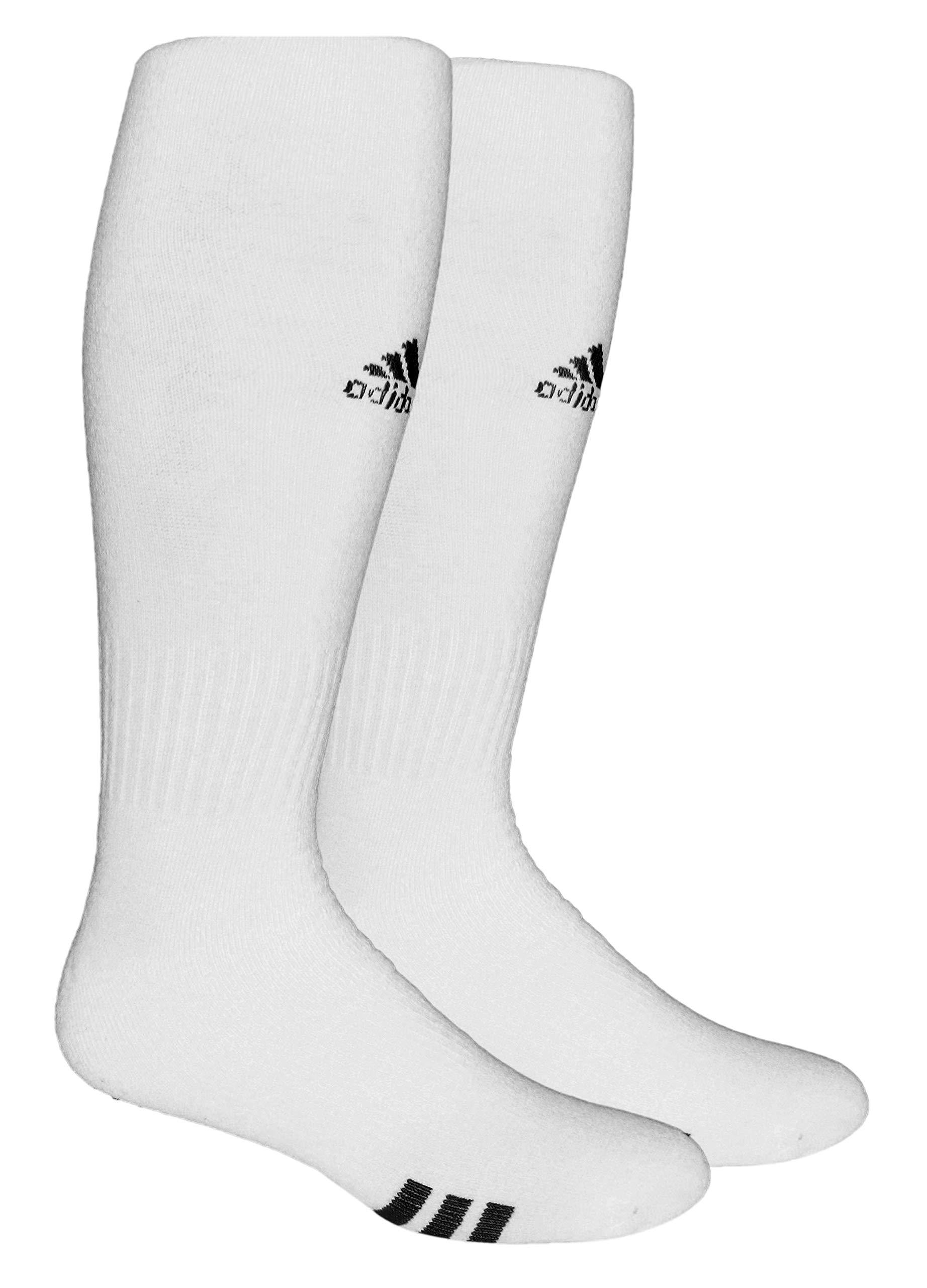 adidas Unisex Rivalry Field OTC Sock (2-Pair), White/Black, 5-8.5 by adidas