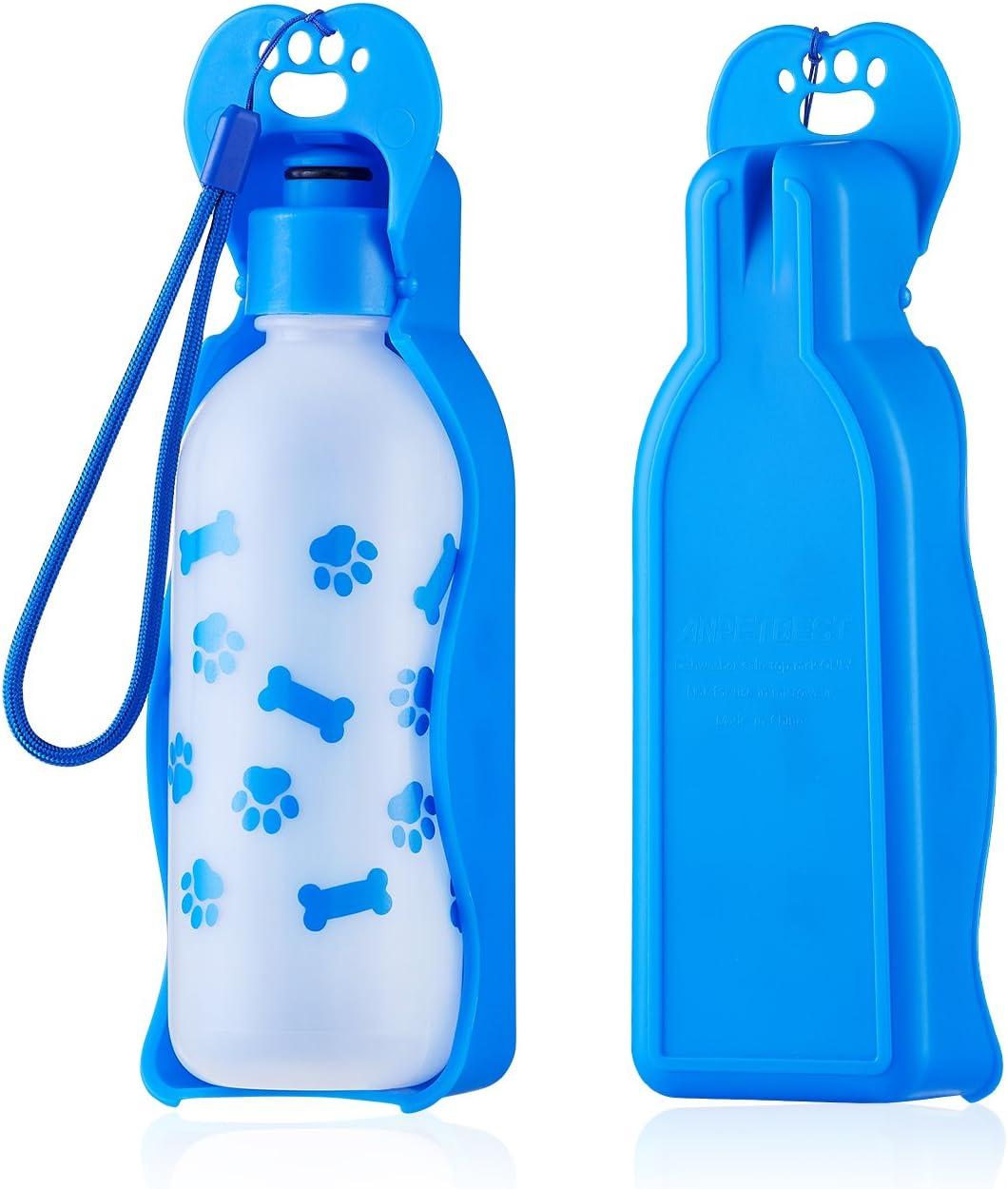 325ml botella de agua portátil para perro, Anpetbest Portátil botella de viaje para mascotas Bebedero para Perro y Gatos Bebedero de Viaje para Mascota