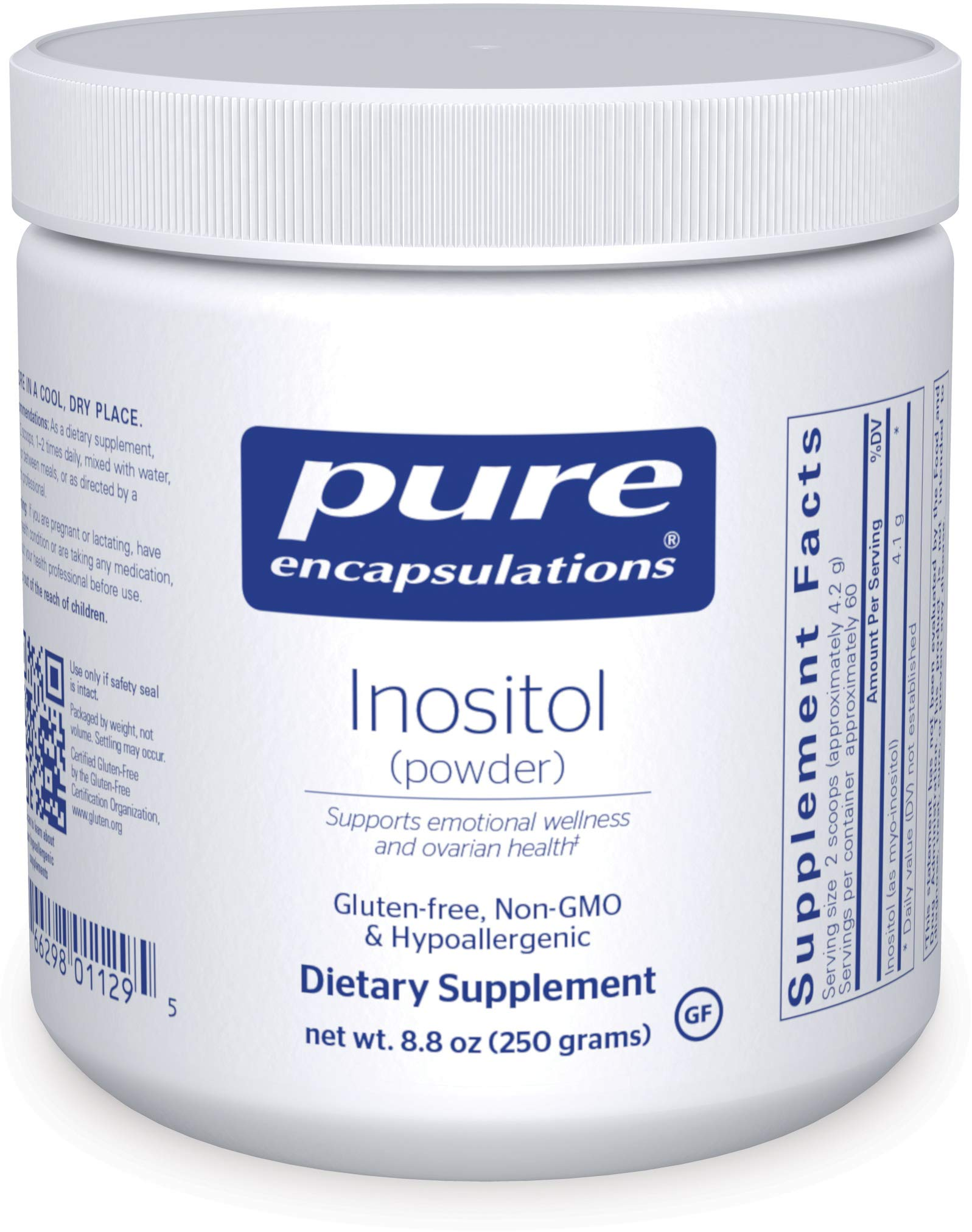 Pure Encapsulations Inositol (Powder) | Supplement to Support, Mood, Energy, Nervous System, and Ovarian Function* | 8.8 Ounces