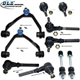 DLZ 10 Pcs Front Suspension Kit-2 Upper Control Arm Ball Joint Assembly, 2 Lower Ball Joints, 4 Inner Outer Tie Rod Ends, 2 Sway Bars Only For 4WD Ford F-150 F-250 Expedition Lincoln Navigator