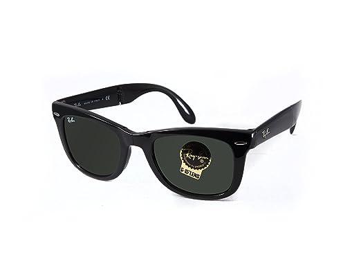 3870bb2e9d6d1 Ray-Ban Wayfarer Folding Classic Unisex sunglasses RB4105-601 Black  E50B22T140 M US
