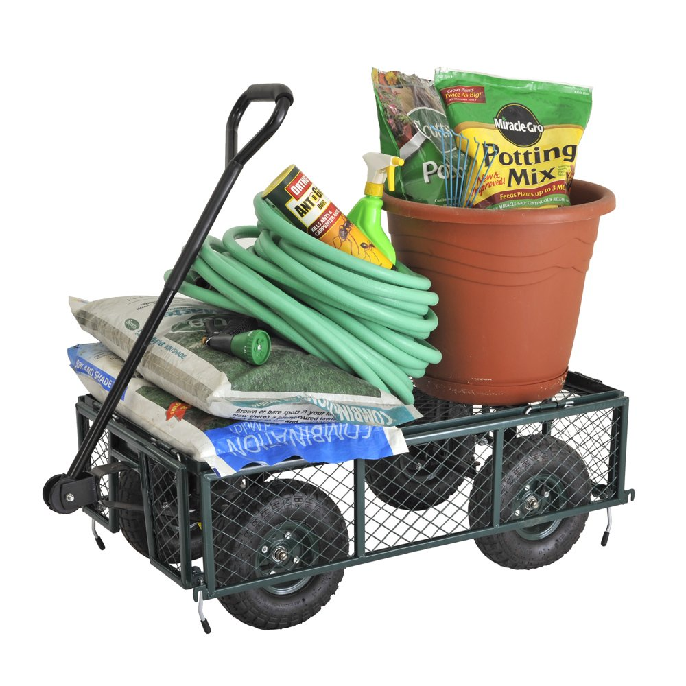 Sandusky Lee CW3418 Muscle Carts Steel Utility Garden Wagon 21-3//4 Height x 34 Length x 18 Width 400 lb Load Capacity