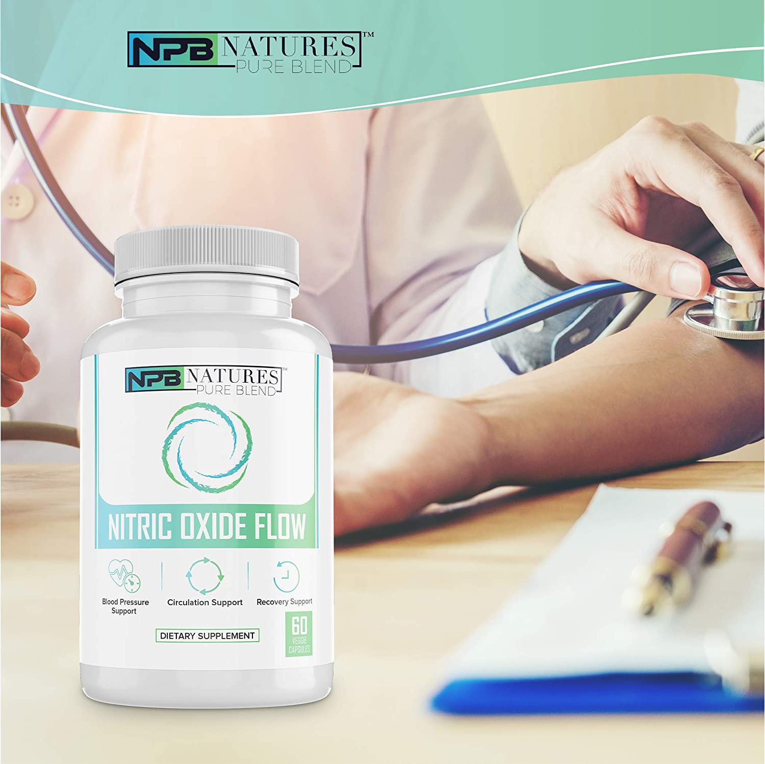 Nitric Oxide Supplements: Nature's Pure Blend - L-Arginine and L-Citrulline - 1500MG - Nitric Oxide Booster - Blood flow, Muscle growth, Energy - Essential Amino Acids for physical training support: Health & Personal Care