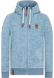 Mens NAKETANO Mach Et Otze V Hooded Jacket for Men Blue