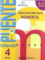 Puente. Números. Cuaderno De Grafomotricidad.