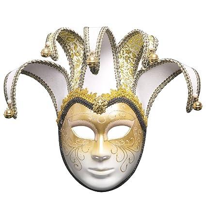 Treeshu Halloween Máscara De La Bola, La Magia De Venezia Venecia Completa Máscara De La