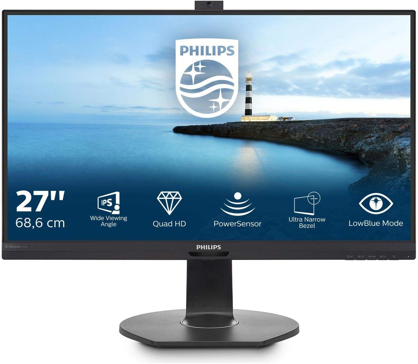 Philips 272b7qptkeb 27 Zoll Qhd Monitor Webcam Computer Zubehör