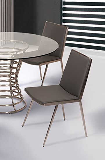 Amazon.com: Armen Living Ibiza Juego de 2 sillas de comedor ...