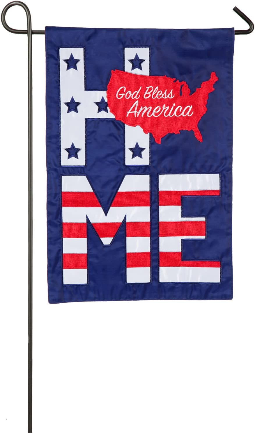 God Bless America Garden Applique Flag - 13 x 1 x 18 Inches