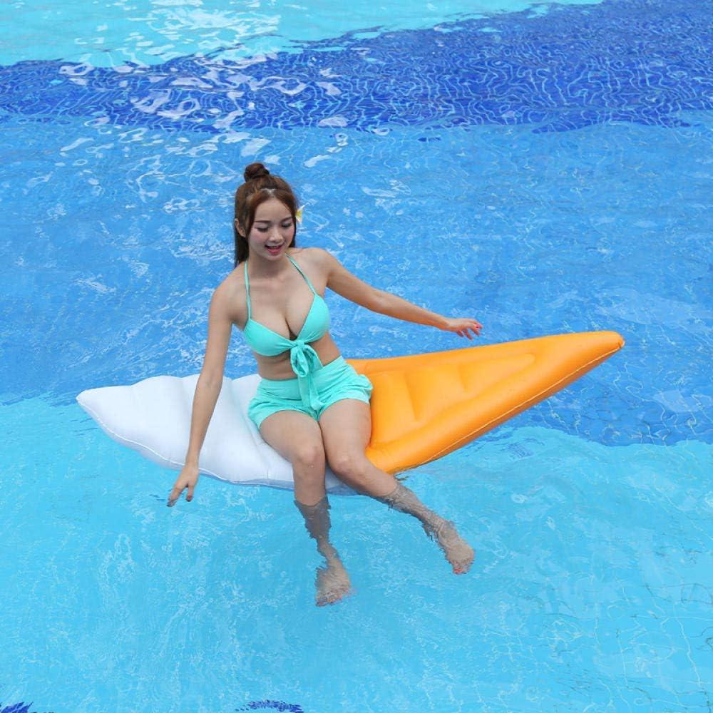 Svvsgf Juguetes inflables para Piscinas, PVC Helado Inflable de Gran tamaño Drenaje Flotante en cojín de Surf para Adultos Helado Pizza sandía limón Cama Inflable