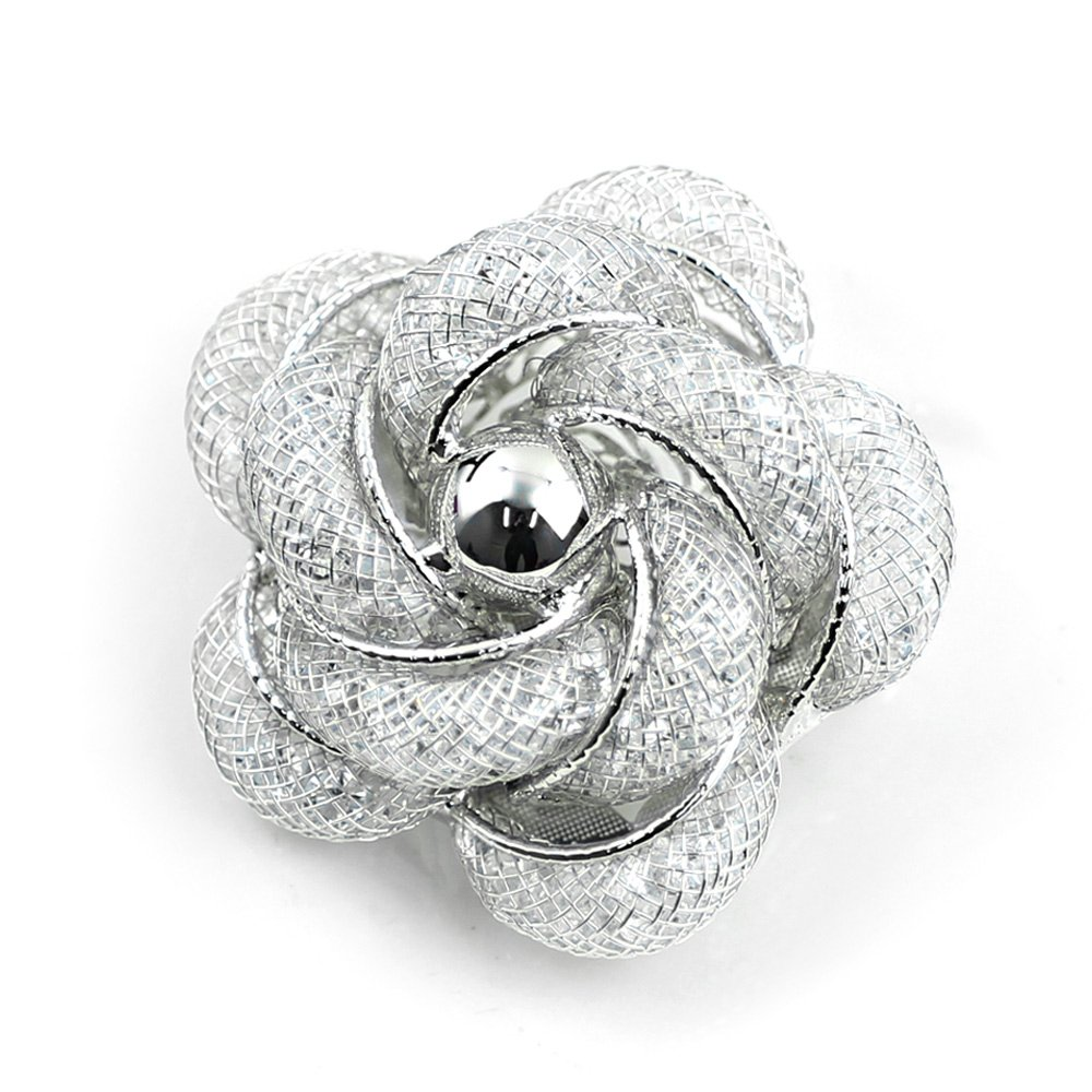 Merdia Brooch Fashinable and Refined Hollow-Out Brooch Breastpin with White color for girls ladies and women