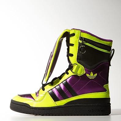b66fb3616867 Adidas Jeremy Scott Tall Boy Hi Tops Yellow Black UK Size 10  Amazon.co.uk   Shoes   Bags