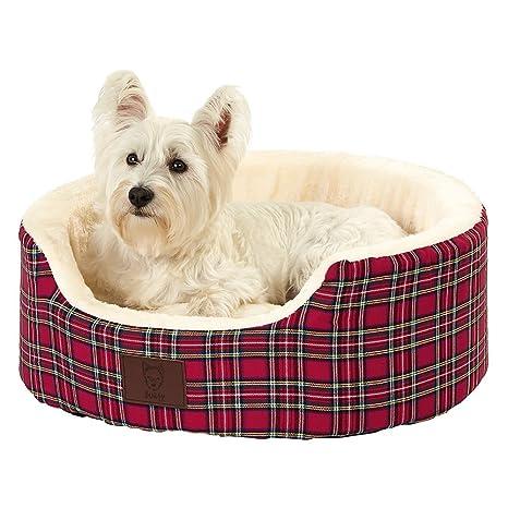Bunty Heritage - Cama para perro de forro polar suave, diseño de tartán, con