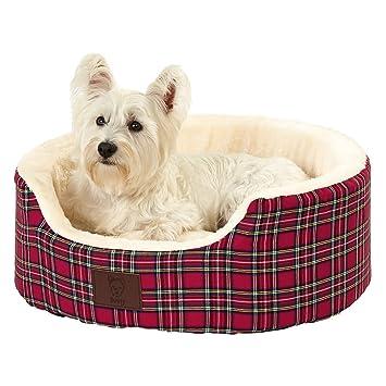 Bunty Heritage - Cama para perro de forro polar suave, diseño de tartán, con colchoneta y cesta para mascotas lavable y acolchada: Amazon.es: Productos para ...