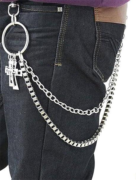 Amazon.com: Pantalón para hombre, estilo Hip Hop Punk ...