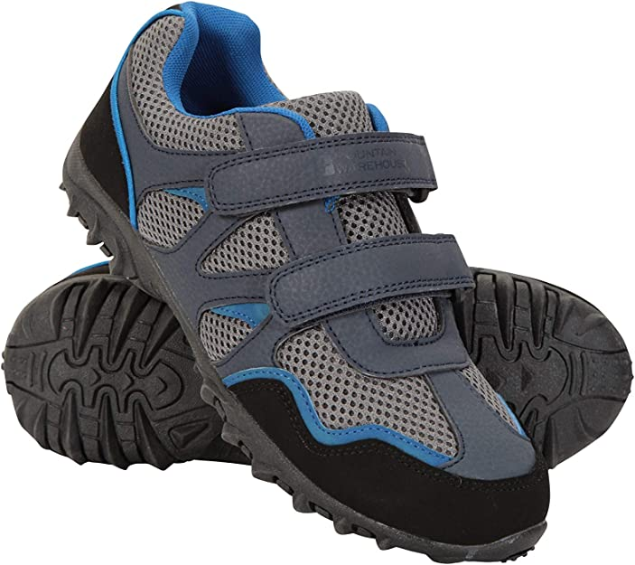 Mountain Warehouse Mars Kids Non Marking Shoes - Lightweight Walking Shoes,  Comfortable Summer Shoes, Hook & Loop Straps Childrens Hiking Shoes,  Breathable – for Travel: Amazon.co.uk: Shoes & Bags
