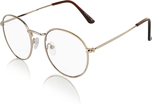 Clear Lens Designer Inspired Oval Eyeglasses Metal Frame Women Fashion Glasses
