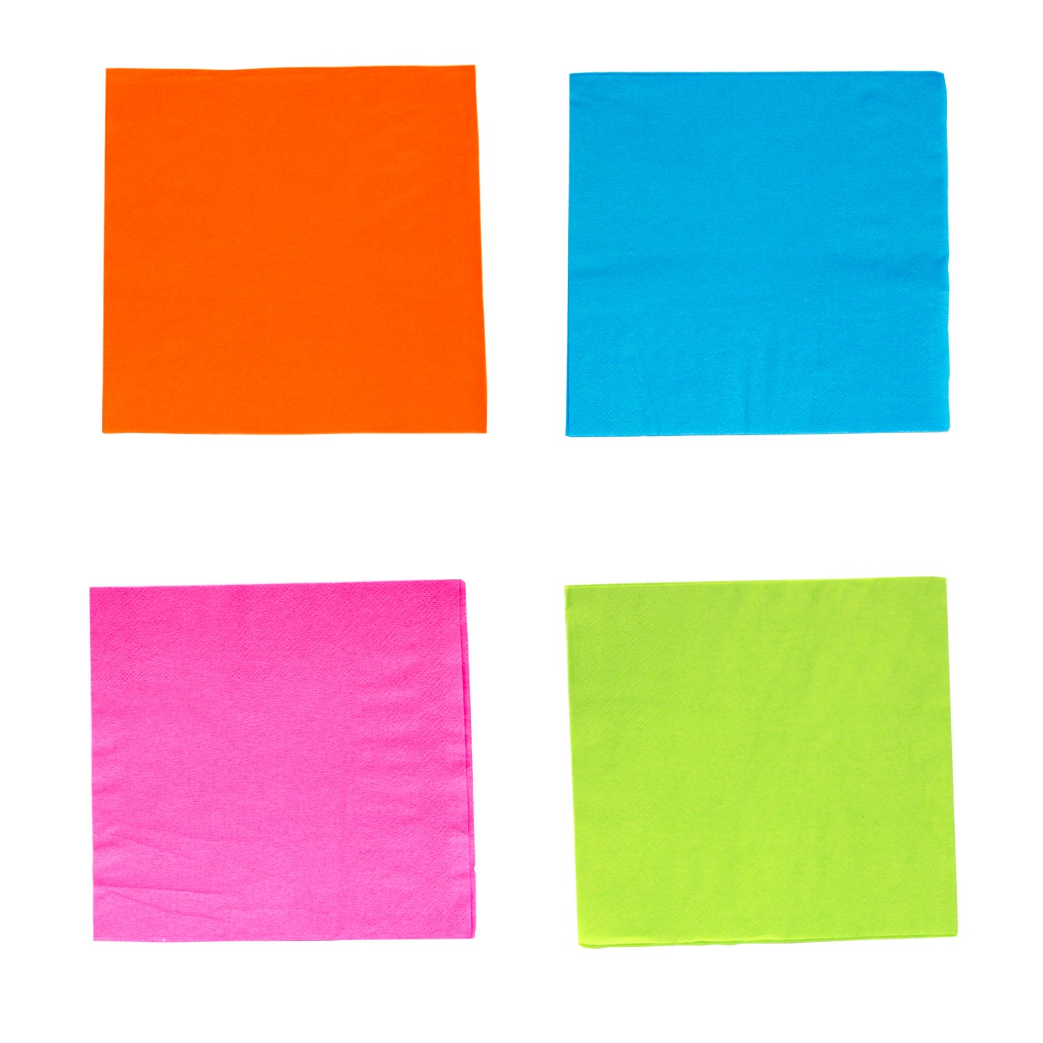 Party Essentials 2-Ply Paper Cocktail Beverage Napkins, Assorted Neon Brights, 48-Count by Party Essentials (Image #4)