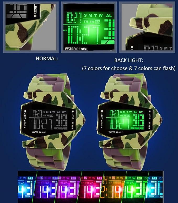 Kids Digital Reloj Deportivo Warcraft Fighter Multi Función ...