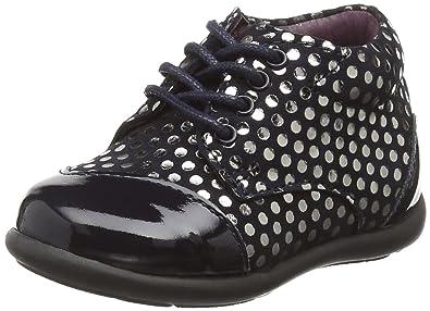 4a2fd939080ebd Mod8 Lou, Chaussures Premiers Pas bébé Fille, Bleu (Marine imprimé), 20