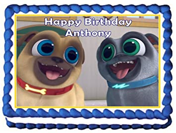 Puppy Dog Pals Edible Birthday Cake Topper Image 1 4 Sheet With Custom