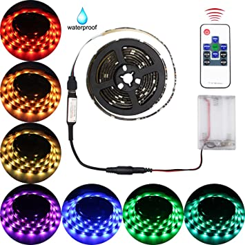 Led lights strip battery operated abtong led strip lights kit rgb led lights strip battery operated abtong led strip lights kit rgb battery led lights with mozeypictures Choice Image