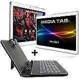 Media Tab Tablet-PC M101S1 Touchpad (WLAN 3G, GPS Navigation, 2 GB RAM) 10 Zoll Display 64 GB (inkl. Tastatur / Tasche, Silver)