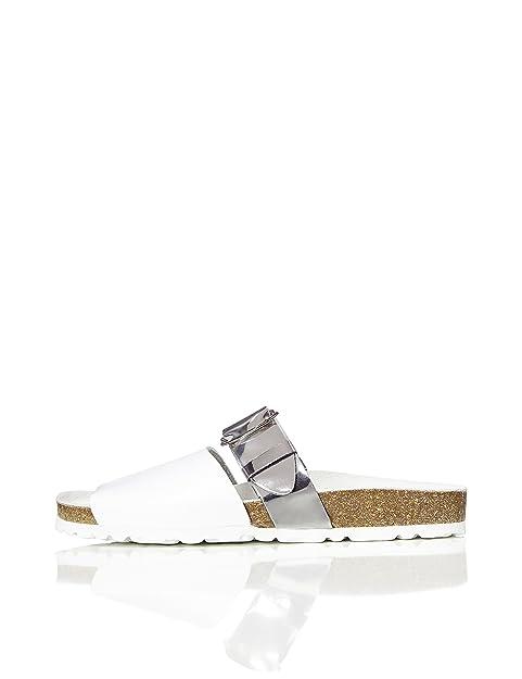 FIND Sandalias Pala de Piel para Mujer  Amazon.es  Zapatos y complementos a164301e8592