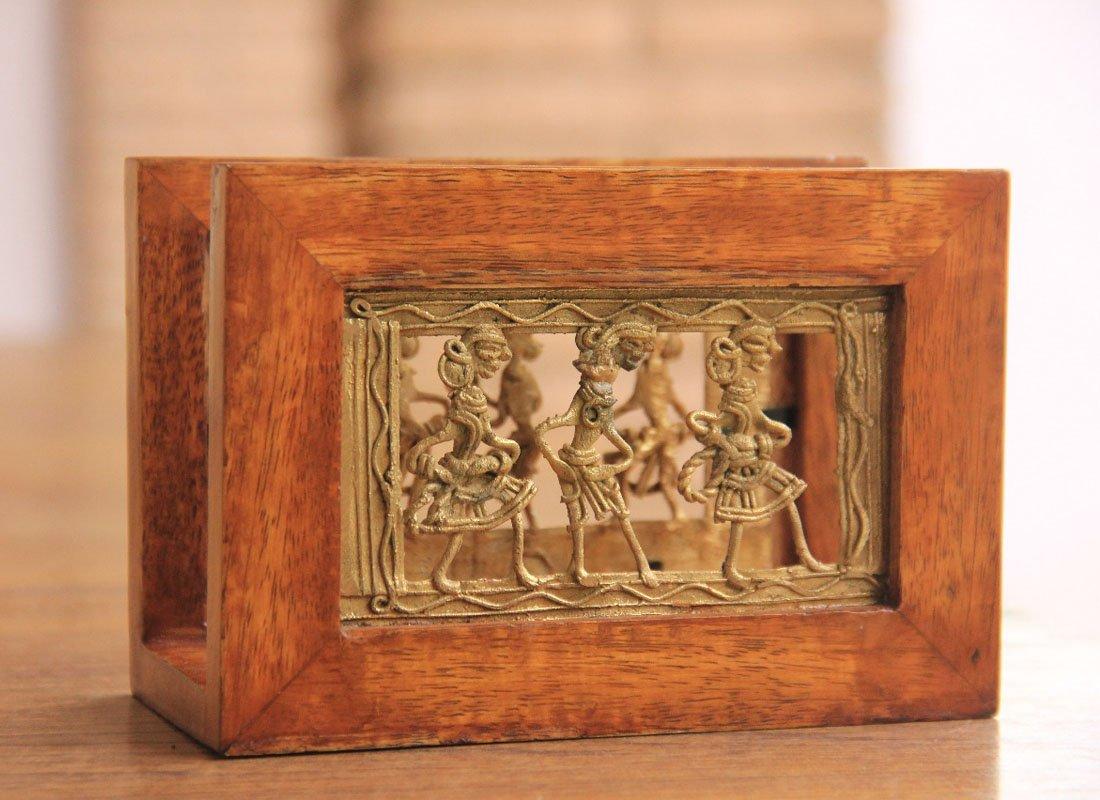 CraftedIndia Rectangle Napkin Holder In Mango Wood by CraftedIndia