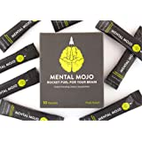 Mental Mojo: Rocket Fuel For Your Brain - Super Nootropic Drink Powder Brain Supplement - Patent-Pending Brain Booster Supports Mental Clarity, Memory, Energy and Focus (Fruit Punch Focus)