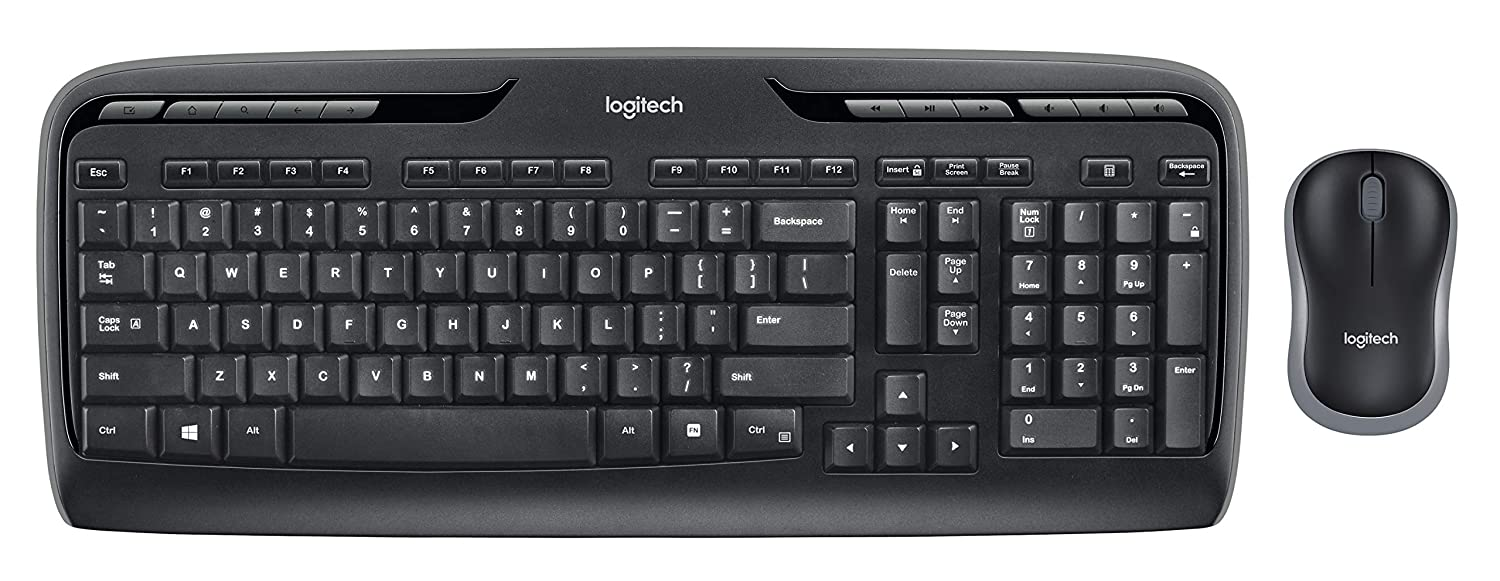 bfea8d5b286 Amazon.com: Logitech MK320 Wireless Desktop Keyboard and Mouse Combo —  Entertainment Keyboard and Mouse, 2.4GHz Encrypted Wireless Connection,  Long Battery ...