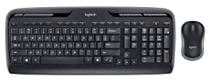 Logitech MK320 Wireless Desktop Keyboard and Mouse Combo — Entertainment Keyboard and Mouse, 2.4GHz Encrypted Wireless Connection, Long Battery Life