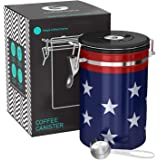 Coffee Gator 4th of July Canister - Limited Edition USA Stars and Stripes Flag - Large