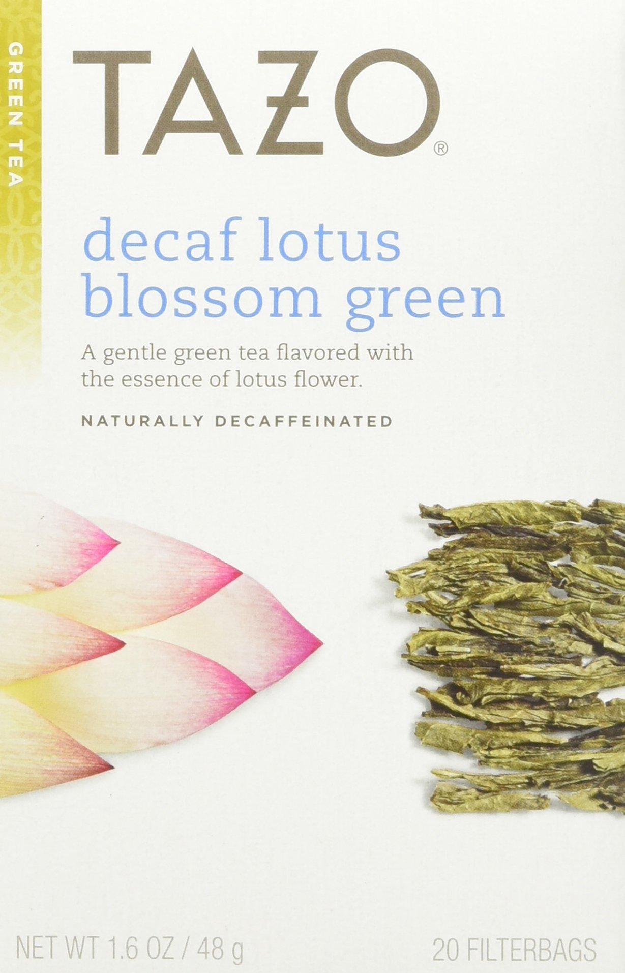 Tazo Decaf Lotus Blossom Green Tea, 20 Bag (Pack of 6)