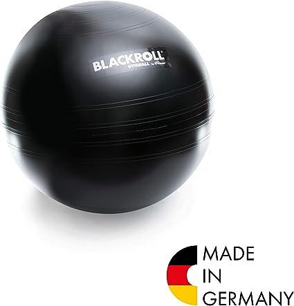 Blackroll Gymball – el Original. Dispositivo de Entrenamiento y Asiento en una Pelota de Gimnasia/Asiento en Negro.: Amazon.es: Deportes y aire libre