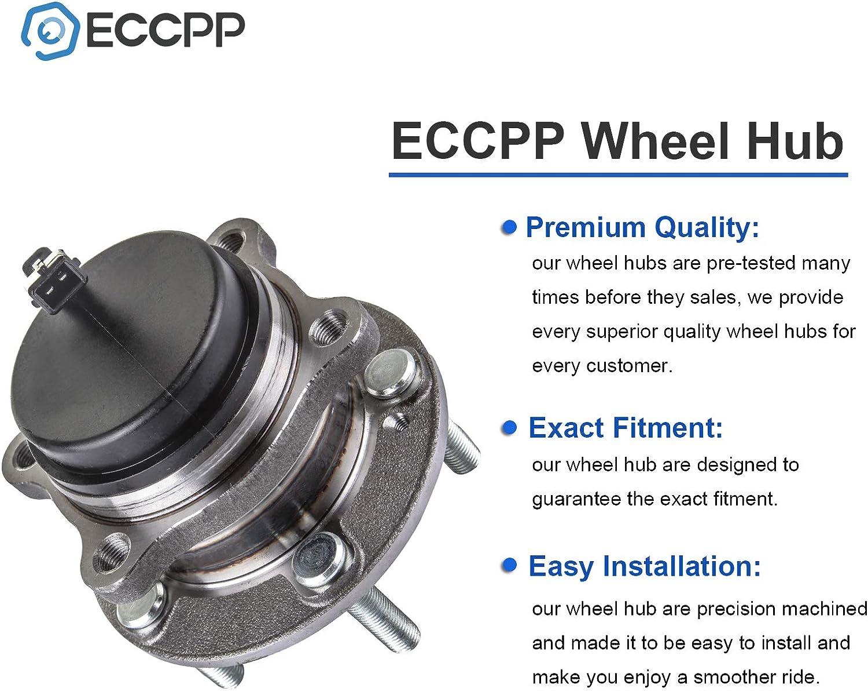 ECCPP Rear 5 Lugs Wheel Bearing and Hub Assembly for 2007-2016 Hyundai Santa Fe 2013-2016 Hyundai Santa Fe XL 2007-2012 Hyundai Veracruz 2011-2015 Kia Sorento Wheel Hub Bearings W//ABS 512326