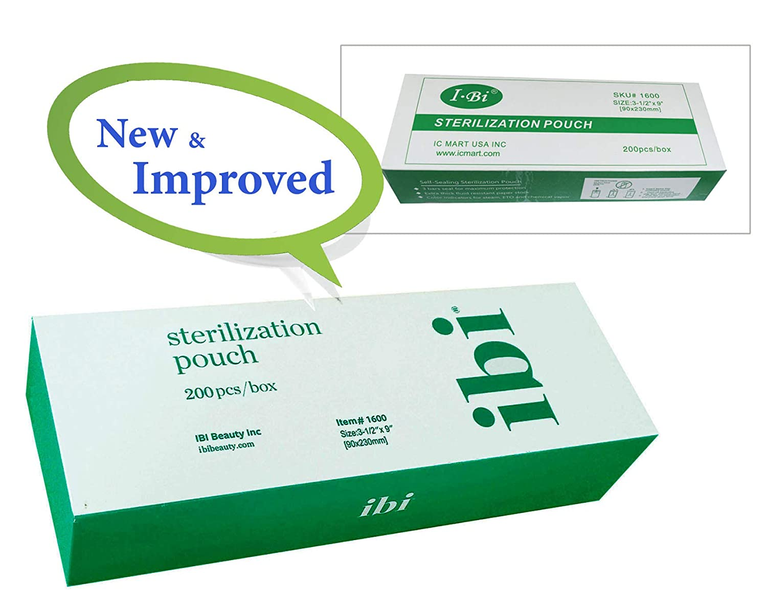 Amazon.com: Ibi Self Seal esterilización Pouch (200pcs/caja ...
